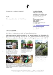 Jahresrückblick Ombili-Stiftung 2020